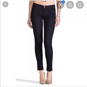 J Brand Blue Dark Super Skinny Jeans Starless